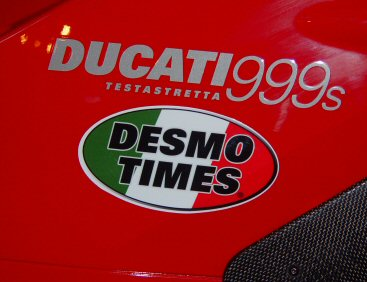 Desmo Times Decal on a 999s